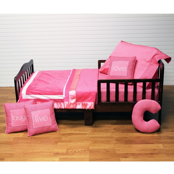 One Grace Place Simplicity Toddler Bedding Set in Hot Pink 14758697