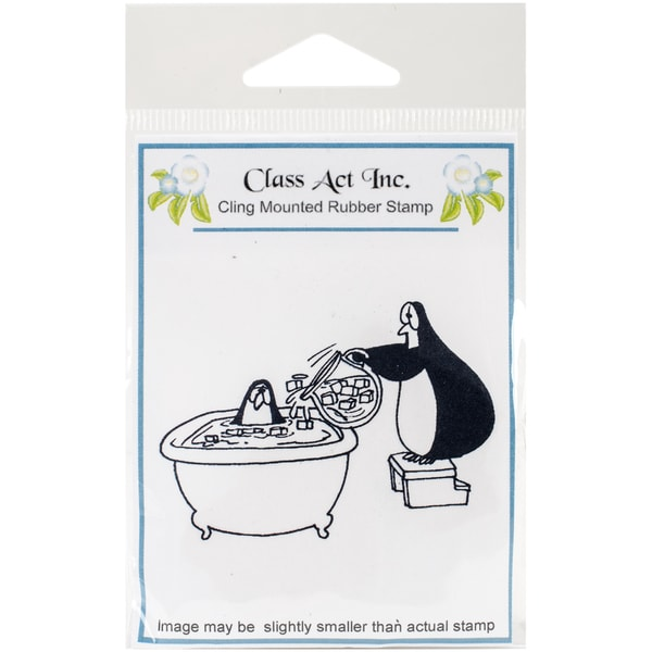 "Class Act Cling Mounted Rubber Stamp 2.75""X3.75""-Cool Me Down"