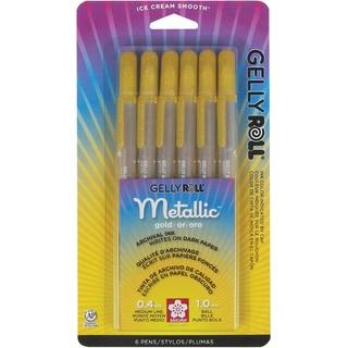 Gelly Roll Metallic Pens 6/Pkg-Gold