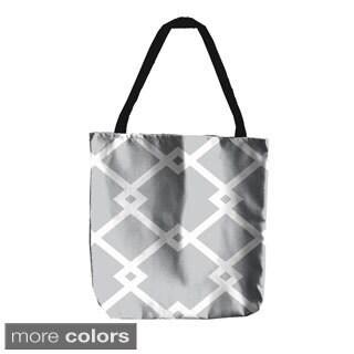 Geometric Diamond Interlock 18-inch Tote Bags