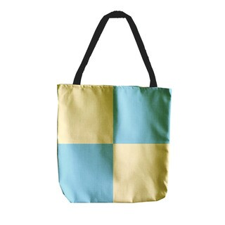 Checkered Holiday Geometrics 18-inch Tote Bags