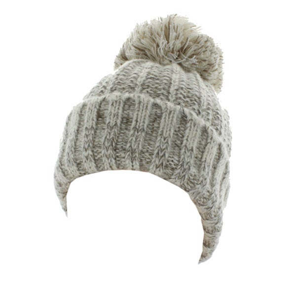 Kate Marie 'Abbi' Cable Knit Pompom Beanie