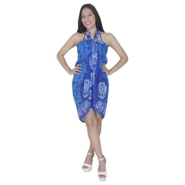 La Leela Blue John Dory Fish Print Sarong