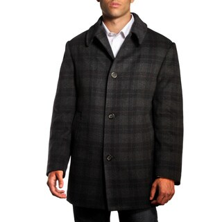 Jean-Paul Germain Men's Plaid Jackson Overcoat