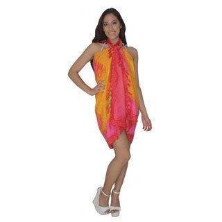 La Leela Orange Dolphin Border Print Sarong