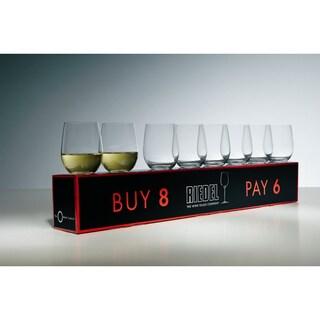 Riedel O Mixed Cabernet/ViognierTumbler, Set of 6 Plus 2 Bonus Glasses (8 Total)