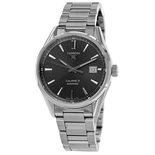 Tag Heuer Men's WAR211C.BA0782 'Carrera' Grey Dial Stainless Steel Automatic Watch