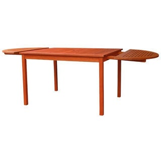 Vifah 82-inch Outdoor Eucalyptus Oval Dining Table