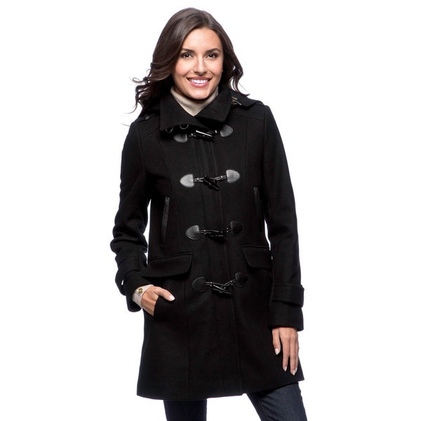 Tommy Hilfiger Women's Black Hooded Toggle Coat - Size XS (As Is Item)