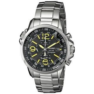 Seiko Men's SSC093 Solar Round Silvertone Bracelet Watch