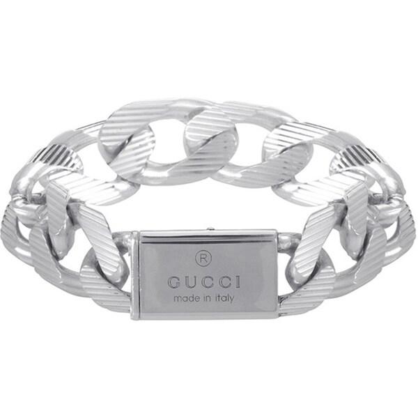 Gucci Sterling Silver Link Bracelet
