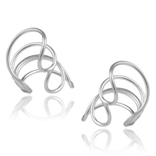 Journee Collection Sterling Silver Slender Earcuffs