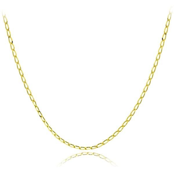 Mondevio 14k Gold 1.5mm Cuban Link Chain