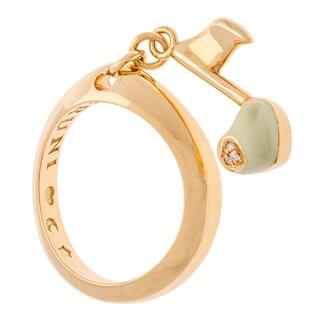 Pasquale Bruni 'Charm' 18k Yellow Gold White Diamond Note Ring