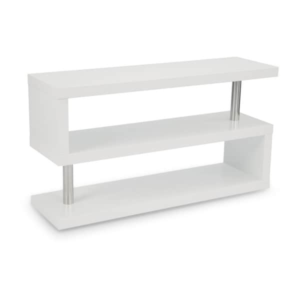 Aurelle Home Kraft Comtemporary White Shelf