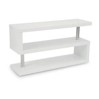 Aurelle Home Kraft Comtemporary White Shelf