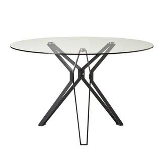 Aurelle Home Almanor Glass Dining Table