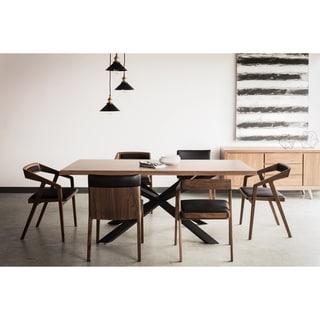 Aurelle Home Phoenix Walnut Wooden Dining Table