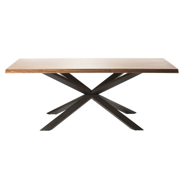 Aurelle Home Phoenix Walnut Wooden Dining Table