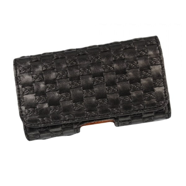 INSTEN Black Premium Horizontal Pouch Phone Case Cover With Magnetic Flip For Blackberry Storm 9530/ Apple iPhone 5