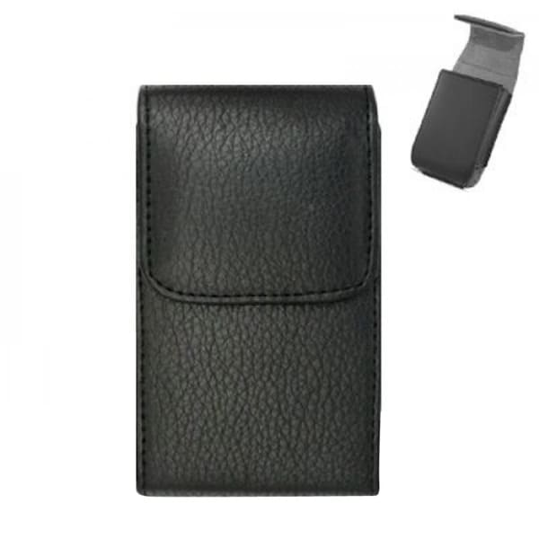 INSTEN Black Universal Horizontal Leather Phone Holder Pouch For Apple iPhone 5/ 5C/ 5S/ Samsung Galaxy S2/ S3/ S4