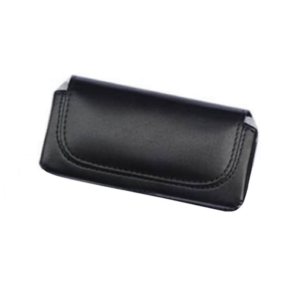 INSTEN Black Horizontal Leather Fabric Phone Case Cover Pouch With Belt Clip For Motorola i730