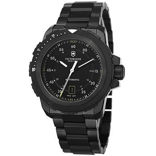 Victorinox Swiss Army Men's 241684 'Alpnach' Automatic Black Stainless Steel Watch