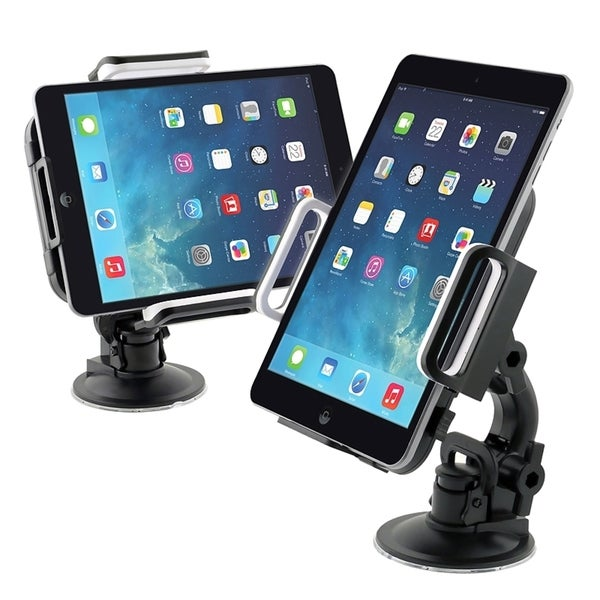 INSTEN Black Universal Windshield Phone Holder With Suction Car Mount 7-10-inch Expandable