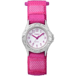 Timex TW7B999009J Kids' Kids Analog Pink Fast Wrap Velcro Strap Watch