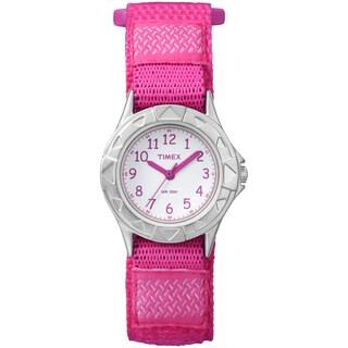 Timex Kids Analog Pink Fast Wrap Velcro Strap Watch