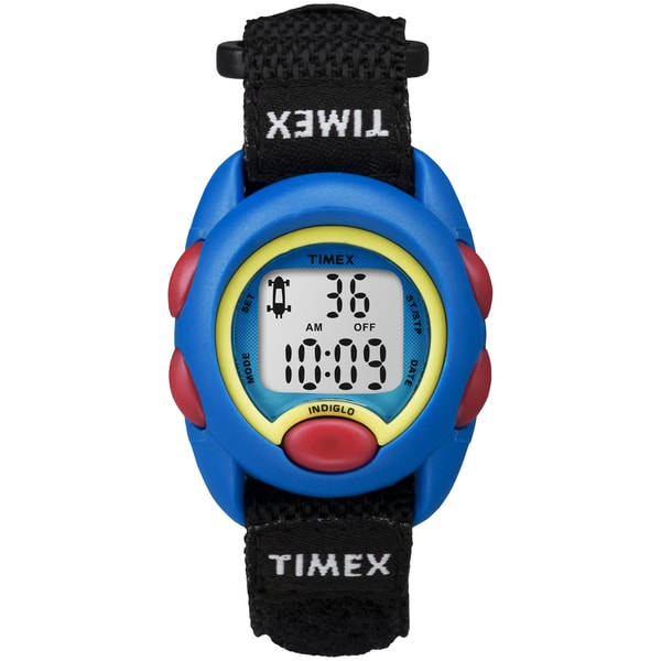 Timex Kids Blue Digital Black Fast Wrap Watch