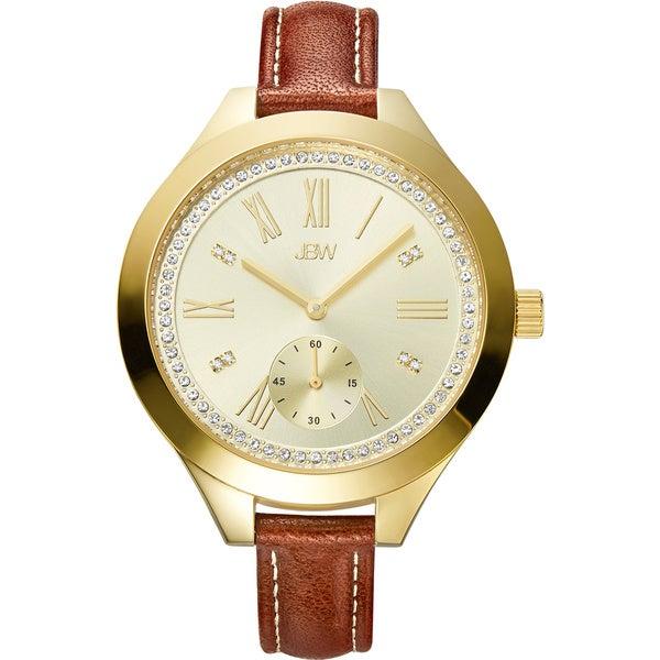JBW Women's Aria Diamond Skinny Leather Strap Watch