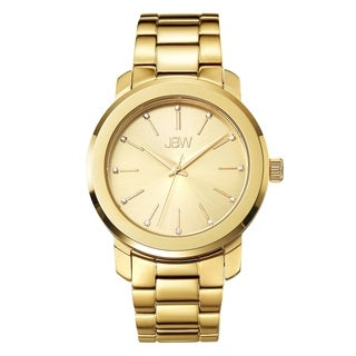 JBW Women's 'Scarlett' Diamond Accent Yellow Goldtone Watch