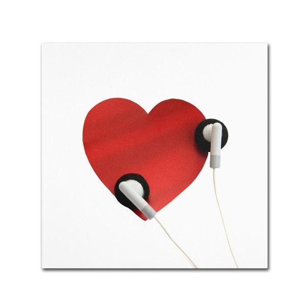 Beata Czyzowska Young 'Listen to Your Heart' Canvas Art