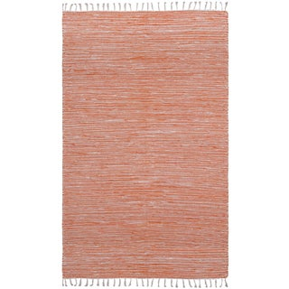 Flatweave Reversible Orange Chenille Area Rug (3' x 5')