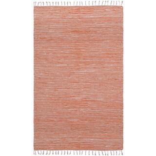 Flatweave Reversible Orange Chenille Area Rug (9' x 12')