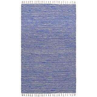 Flatweave Reversible Blue Chenille Area Rug (9' x 12')