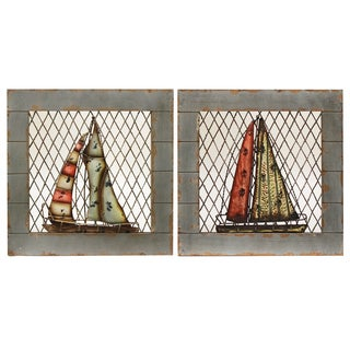 Coastal Living Sailing Boat Nautical Wall Decor (Set of 2)