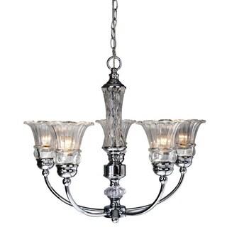 Elegant Designs 5-light Glass Ceiling Glacier Petal Chandelier
