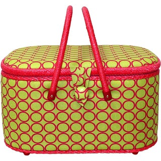 """Large Oval Hobby Basket-12.625""""X8.625""""X7.25"""" Lime Green"""