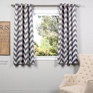 Fez Grey/ Tan Grommet Blackout 63-inch Curtain