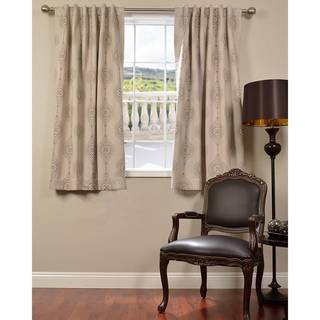 EFF Jaipur Beige 63-inch Blackout Curtain Panel