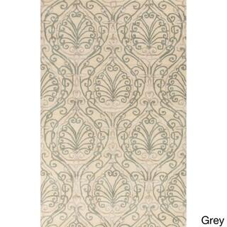 Candice Olson :Hand-Tufted Reuben Damask Pattern Rug (3'3 x 5'3)