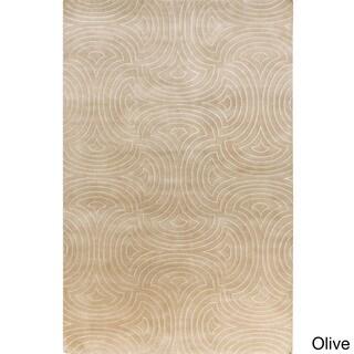 Candice Olson :Hand-Knotted Rhonda Geometric Pattern Rug (5' x 8')