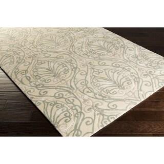 Candice Olson :Hand-Tufted Reuben Damask Pattern Rug (9' x 13')