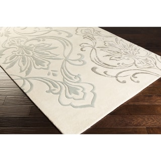 Candice Olson :Hand-Tufted Noreen Damask Pattern Rug (2' x 3')