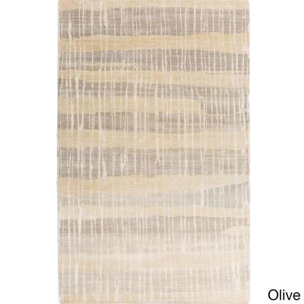 Candice Olson :Hand-Knotted Wilkes Stripe Pattern Rug (2' x 3')