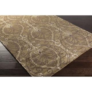Candice Olson :Hand-Tufted Reuben Damask Pattern Rug (2'6 x 8')