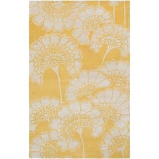 Florence Broadhurst :Hand-Tufted Aleena Floral Rug (2' x 3')