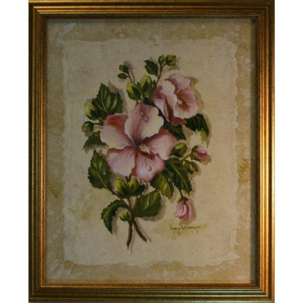 Nancy Wiseman 'Floral' 16 x 20 Framed Art Print